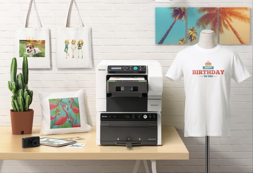 Impresora textil Ricoh Ri 100 con horno finalizador Ricoh Rh 100